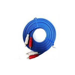 Geeko Audio 2 X RCA Male Cable With Ground 0.8Meter