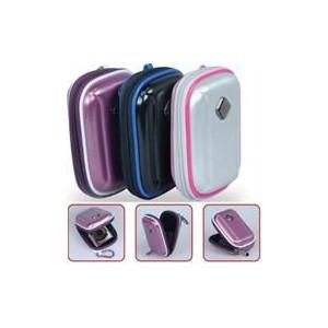 Promate Amba Aluminum Finish Camera Case with Inner Bubble Pad Protector - Purple