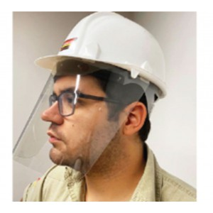 Face Shield with Cap and Anti-fog Design (400 Micron) - 100pcs