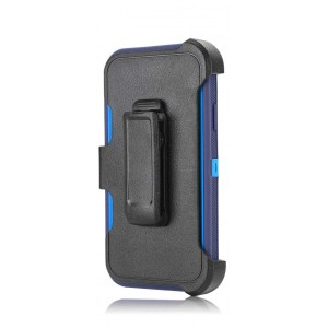 Tuff-Luv Armour-Tuff Rugged Case (With Removable belt Clip) for Apple iPhone 11 - Navy/Blue