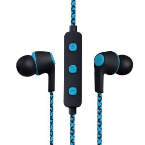 Volkano Moda Series - Nylon Bluetooth Earphones - Blue