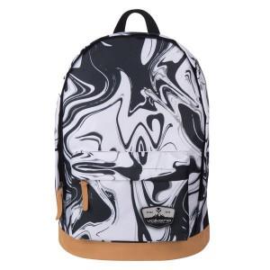 Volkano Suede Series Backpack - Black Marble