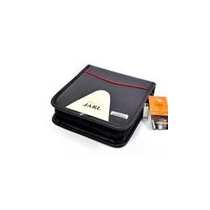 Jarl 40pcs Cd Wallet Black Leather