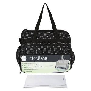 Totes Babe Vivir 20L Diaper Bag - Black