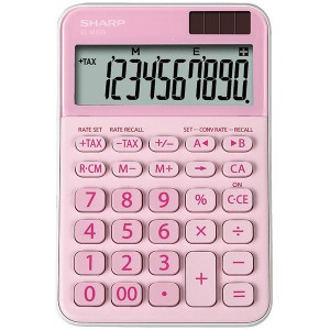 Sharp Extra Large Desktop10-Digit Calculator - Pink