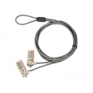 Targus Defcon Serialized Double Dual Head Lock Combination - Standard T-Slot Lock