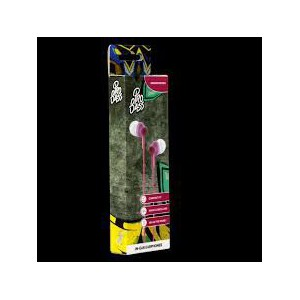 Pro Bass Genesis Series Packaged Aux Earphone No Microphone- Pink