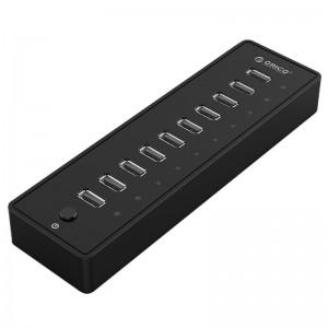 Orico 10 Port 30W Additional Power USB2.0 Hub - Black