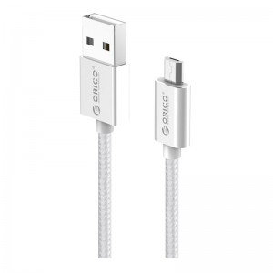 Orico Micro USB Braided Charging Data 1m Cable - Silver
