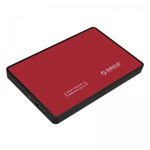 Orico 2.5 USB3.0 External HDD Enclosure - Red
