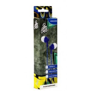 Pro Bass Genesis Series Packaged Aux Earphone No Microphone- Royal Blue