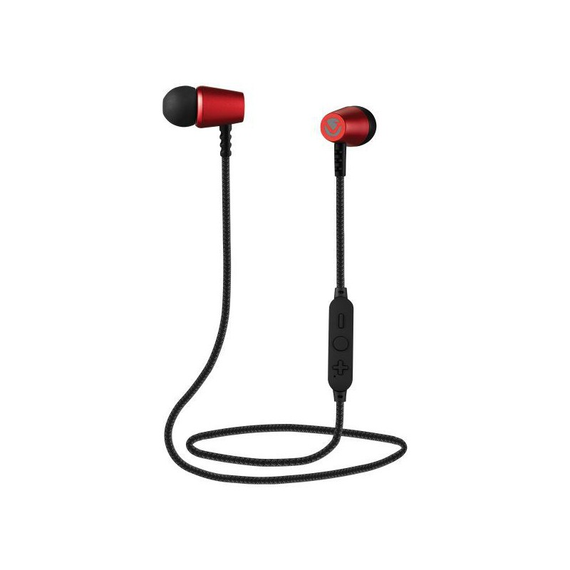 Volkano Aeon Series Bluetooth Earphones with Carry - Red