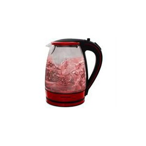 Mellerware 1.8L Glass Kettle - Red