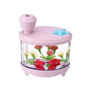Casey Fish Tank Shaped Multifunctional Portable 460ml USB Humidifier Air Purifier - Pink