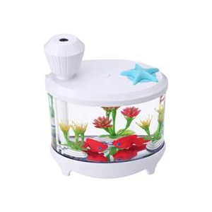 Casey Fish Tank Shaped Multifunctional Portable 460ml USB Humidifier Air Purifier - White