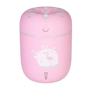 Casey Chamomile Flamingo Design Multifunctional Portable 200ml USB Humidifier Air Purifier