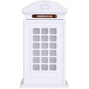 Casey Telephone Booth Shaped Multifunctional Portable 300ml USB Humidifier Air Purifier - White