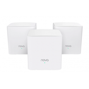 Tenda Nova Dual Band 2 Port Gigabit Mesh System 3pk | Nova MW5C