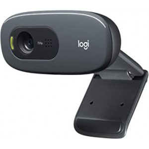 Logitech Webcam C270 HD Still 3MP HD Video Built in Mic Auto focus Grey
