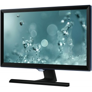 "Samsung 27"" Full HD LED Monitor with Glossy Black and Light Blue ToC T-shape Stand"