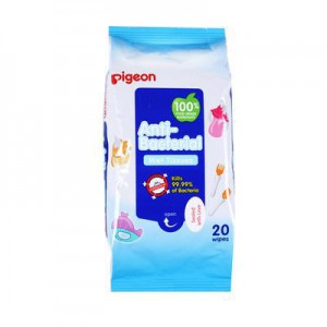 Pigeon Anti-Bacterial Baby Wipes - 20's