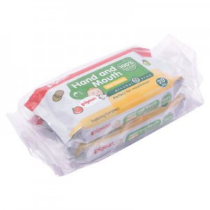 Pigeon 2-In-1 Hand & Mouth Baby Wipes - 20's