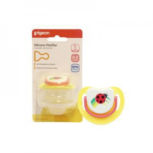 Pigeon Silicone Pacifier Step 1 Ladybird
