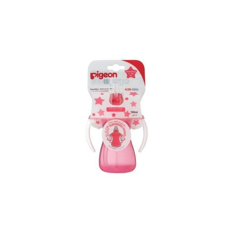 Pigeon Petite Straw Bottle Pink - 150ml