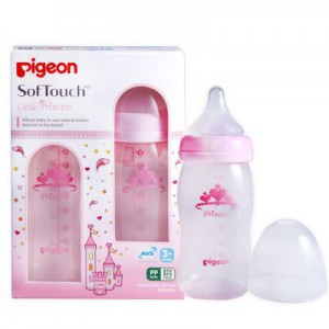 Pigeon Twin Pack Perist Plus PP Princess Bottle 240ml (M Hole)