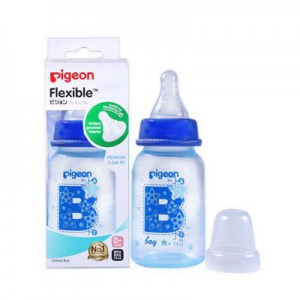 Pigeon Flexible Bottle Standard Neck Blue 120ml