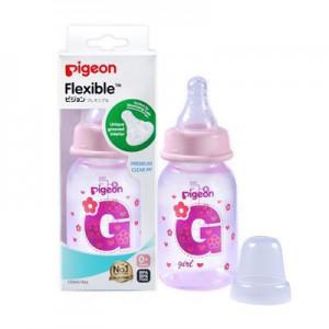 Pigeon Flexible Bottle Standard Neck Pink 120ml