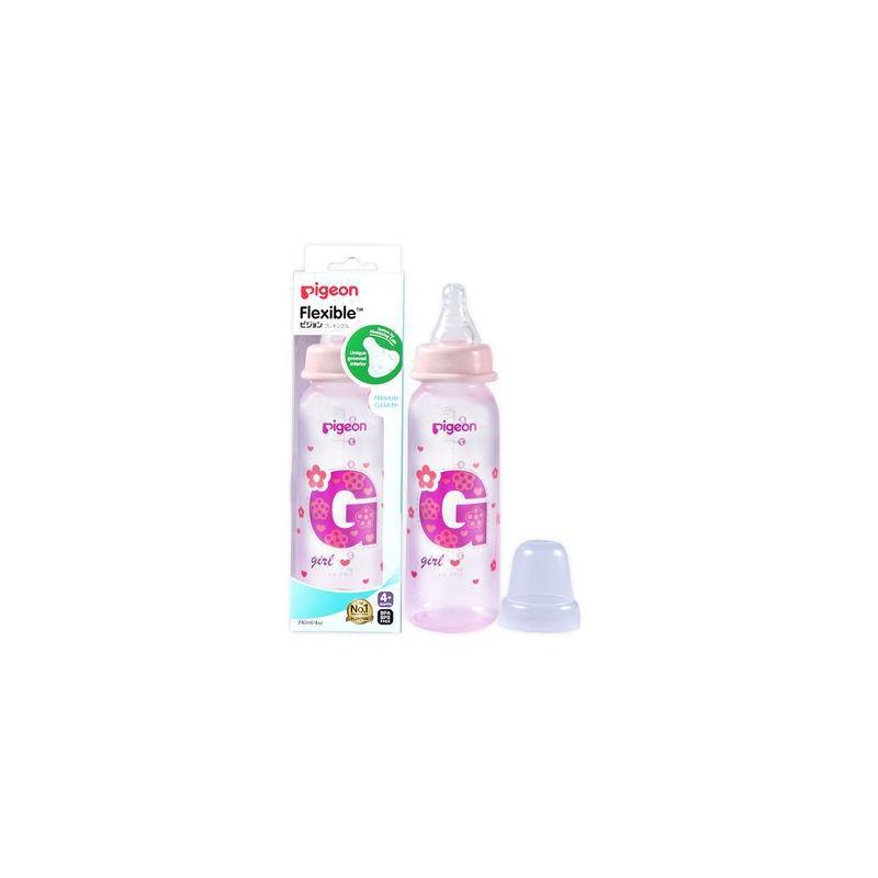 Pigeon Flexible Bottle Standard Neck Pink 240ml