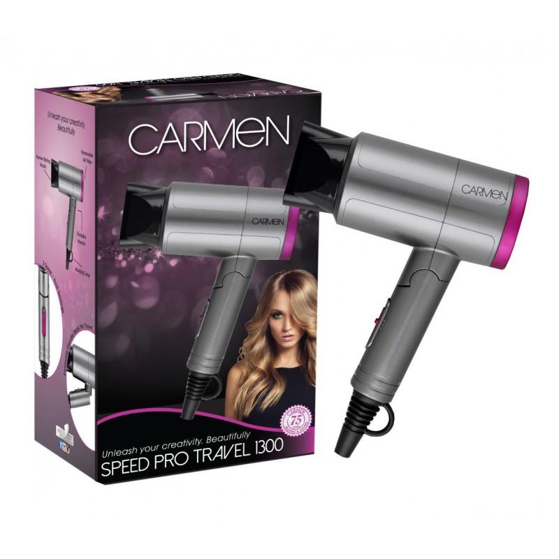 Carmen Speed-Pro Travel Hairdryer (1300W)