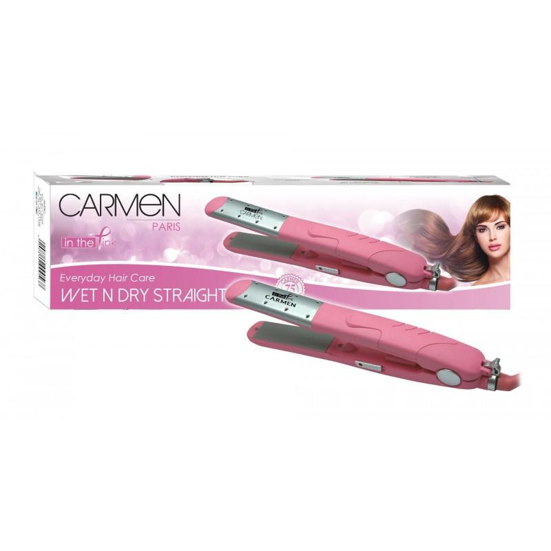 Carmen Wet 'n Dry Ceramic Straightener - Pink
