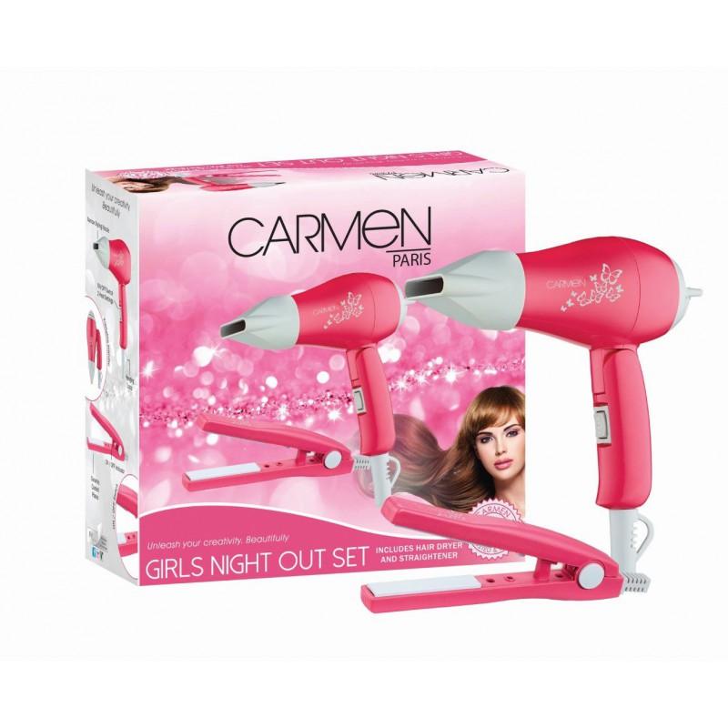 Carmen Girls Night Out Hairstyling Set - Pink