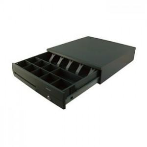 Posiflex CR4100BK Kick Cash Drawer,Black, 5 Bill compartments, 9 Coin Compartments - RJ11 Interface