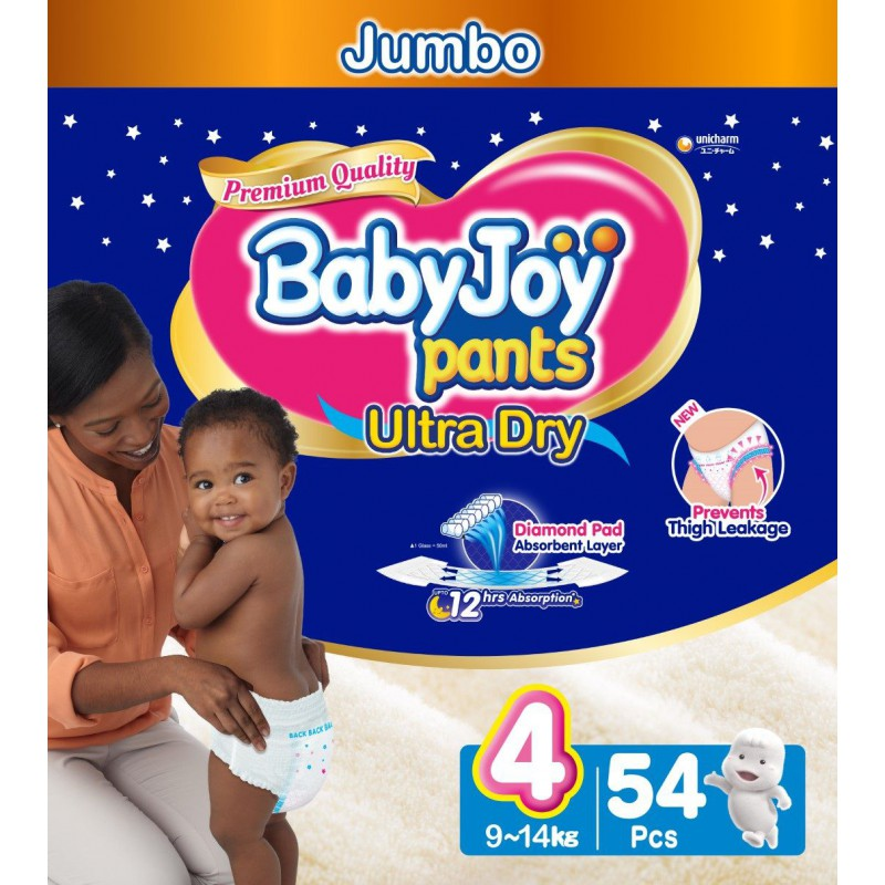 Babyjoy Pants Size 4 – Jumbo 54pc