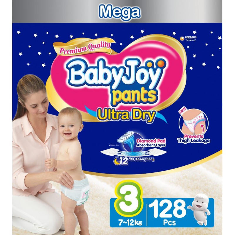 Babyjoy Pants Size 3 - Mega 128pc