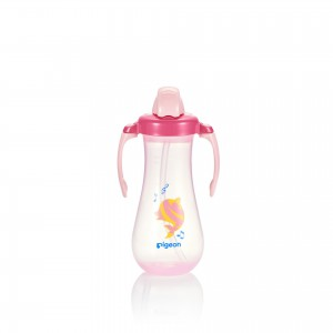 Pigeon Tall Straw Bottle - Pink