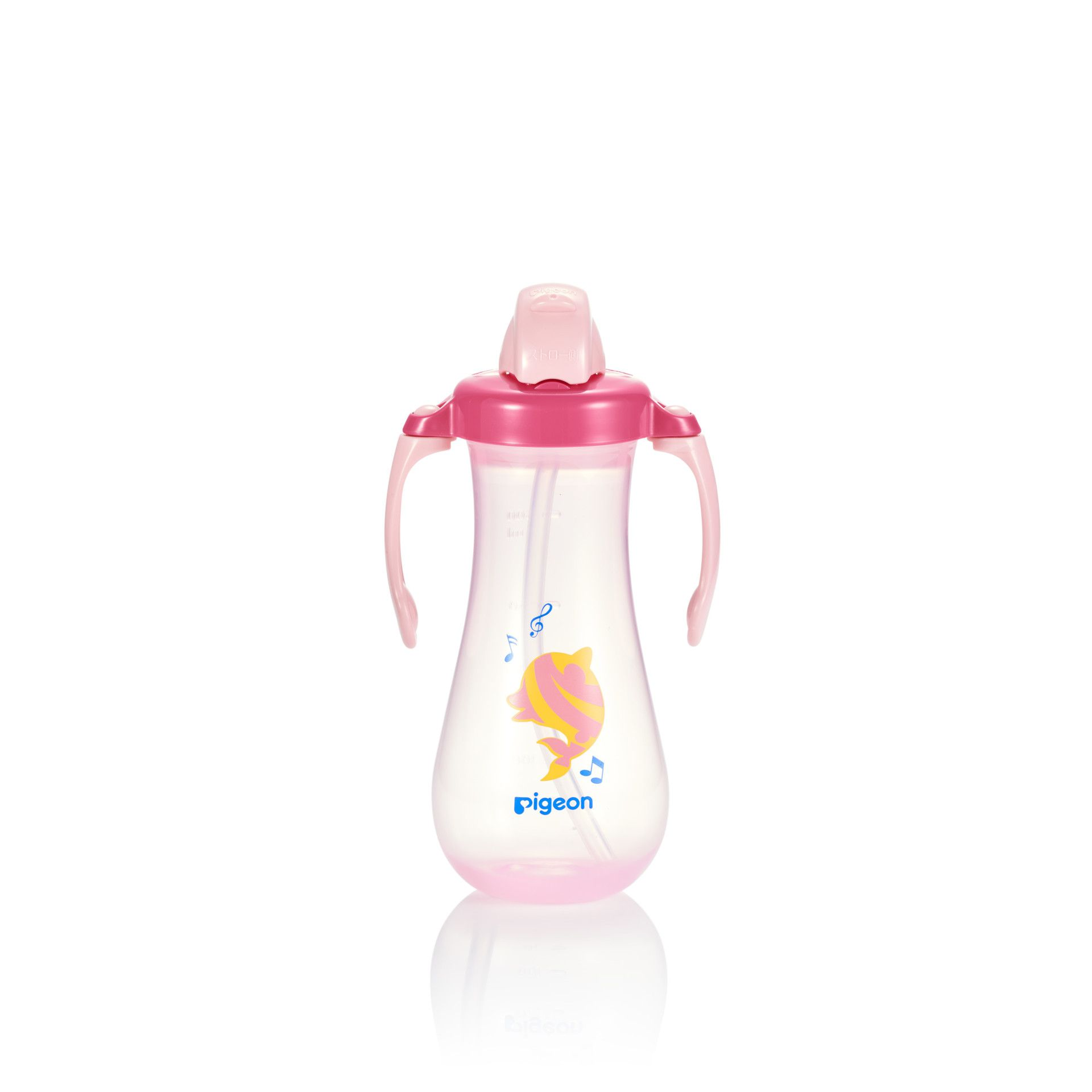 Other Baby - Pigeon Tall Straw Bottle - Pink - Pigeon was ...