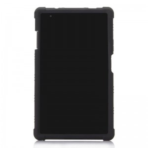 TUFF-LUV Rugged case & Stand for Lenovo Tab 4 8.0 Black