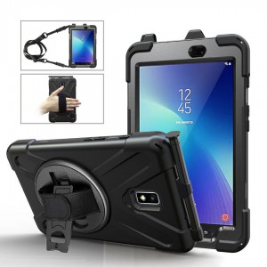 """Tuff-Luv  Armour Jack Rugged Case for the Samsung Tab Active 2 8.0"""" T390/395/397 - Black"""