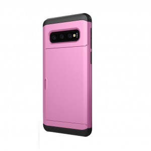 TUFF-LUV Dual Layer Armour Credit Card case for Galaxy S10 - Pink