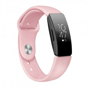 Tuff-Luv A6_87 Silicone Strap for Fitbit Inspire / Inspire HR - SMALL - Pink