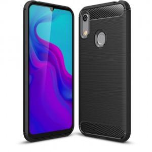 TUFF-LUV Carbon Fibre Effect Armour case Huawei Y6 2019 - Black