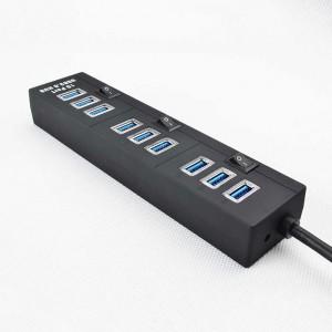 TUFF-LUV 10 PORT USB 3.0 High Speed Hub - BLACK