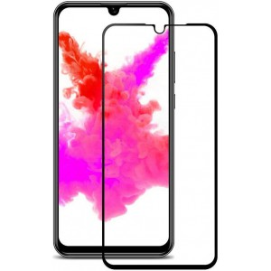 TUFF-LUV 6D Tempered Glass Curved 9H Full Screen protection for Huawei P30 - Black