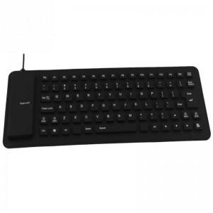 TUFF-LUV Flexible Roll-up Silicone USB QWERTY 85 keyboard - Black
