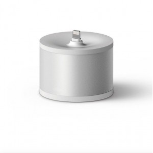 TUFF-LUV Circular Stand Charging Station for Apple TV Remote Controller - Silver