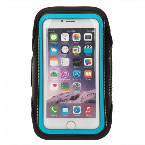 """TUFF-LUV Go-Fit adjustable Armband for Up to 6""""Smartphones  - Blue"""